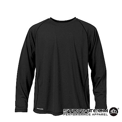 【加拿大STORMTECH】SAT036運動排汗透氣長衫-黑