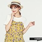 H:CONNECT 韓國品牌女裝 -荷葉邊拼接滿版印花洋裝-黃 - 動態show