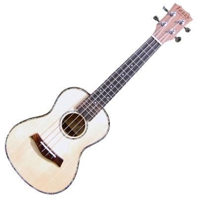 【單板】24吋 雲杉實木 烏克麗麗 送10樣全配!金屬釘扣+補償式牛骨弦枕,小吉他