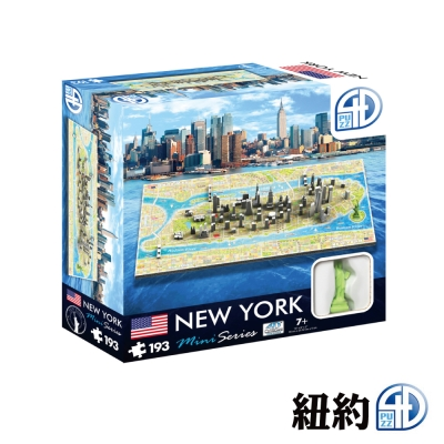 4D Cityscape 4D 立體迷你拼圖 - 紐約