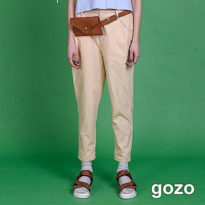 gozo 圓圈布紋窄管九分褲(二色)