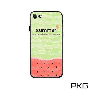 PKG Apple IPhone7/8 Plus (5.5吋) 彩繪保護殼-清新...