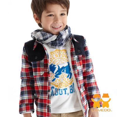 【LOVEDO-艾唯多童裝】SCOUT BOY 野狼燙布T恤