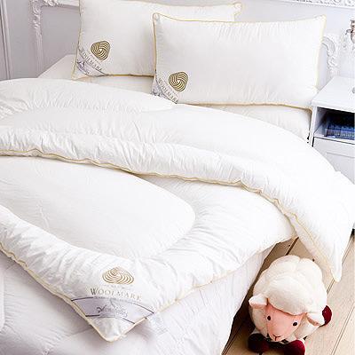 【Annabelle】特選- 100 %澳洲進口高級純羊毛被- 2 . 4 KG+羊毛枕一對