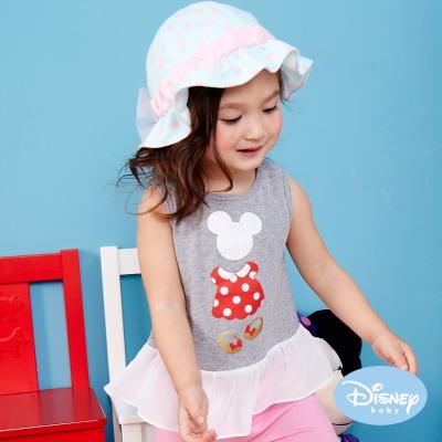Disney Baby 甜美米妮女孩荷葉背心 灰色