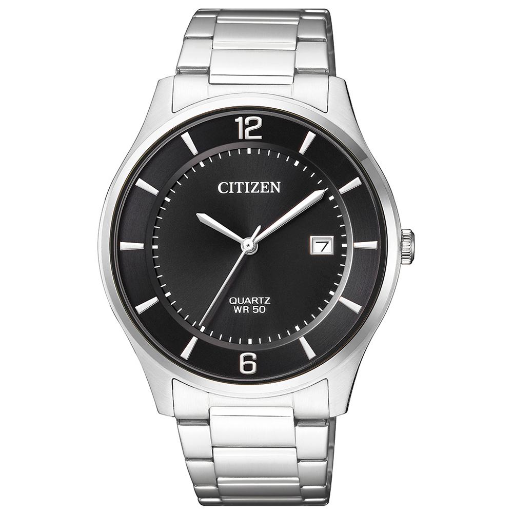 CITIZEN星辰 極致黑錶面商務男仕手錶(BD0041-89E)-黑/39mm