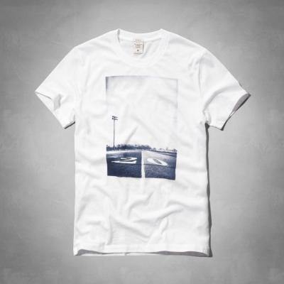 AF a&f Abercrombie & Fitch 短袖 T恤 白色 0026