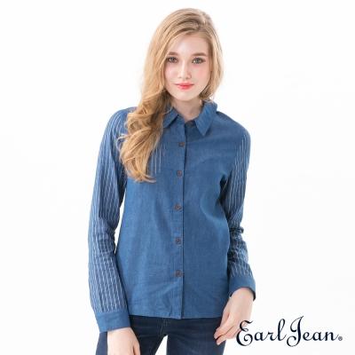 Earl Jean 牛仔條紋襯衫-女
