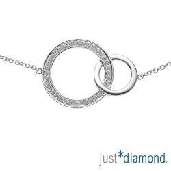 Just Diamond 18K金鑽石手鍊-Circles