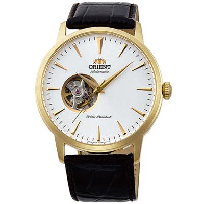 ORIENT東方錶SEMI-SKELETON系列半鏤空機械錶(FAG02003W)