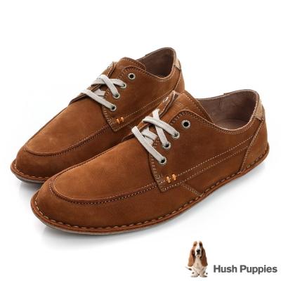 Hush Puppies ARVID 超軟Q綁帶休閒鞋-棕色