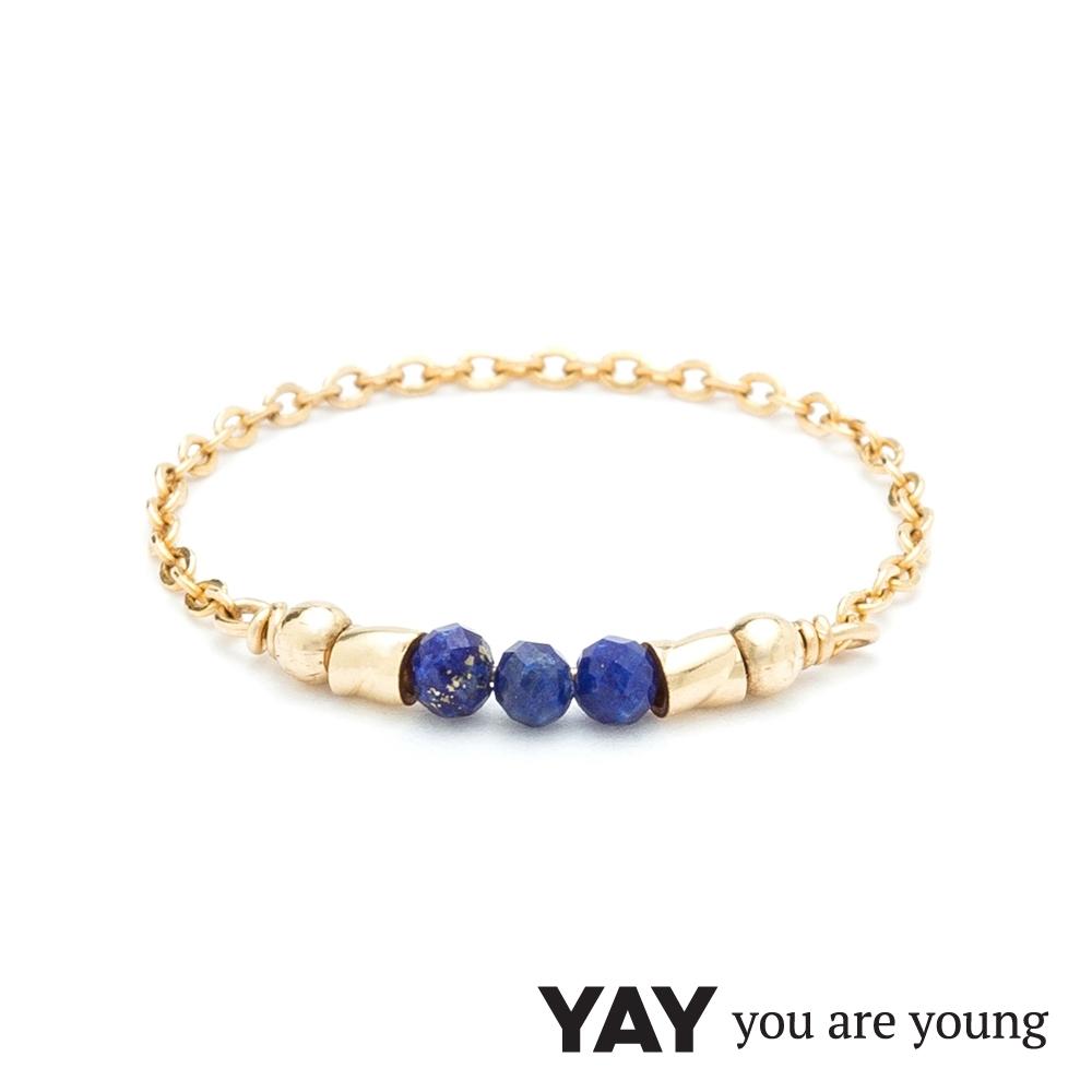 YAY You Are Young 法國品牌 Cleo 青金石戒指 迷你款 金色