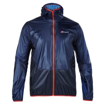 【Berghaus 貝豪斯】男款超輕薄HS防水透氣連帽外套S02M06-藍