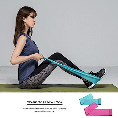 美體伸展瑜伽彈力帶.2色-OB大尺碼