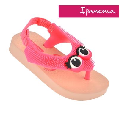 IPANEMA 寶寶 歡樂絨絨休閒鞋-粉紅印花