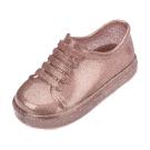 MINI MELISSA漆皮運動風小童鞋-粉金