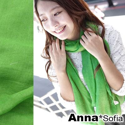 AnnaSofia-軟柔手感棉麻-超大寬版披肩圍巾-森活系-22鮮綠