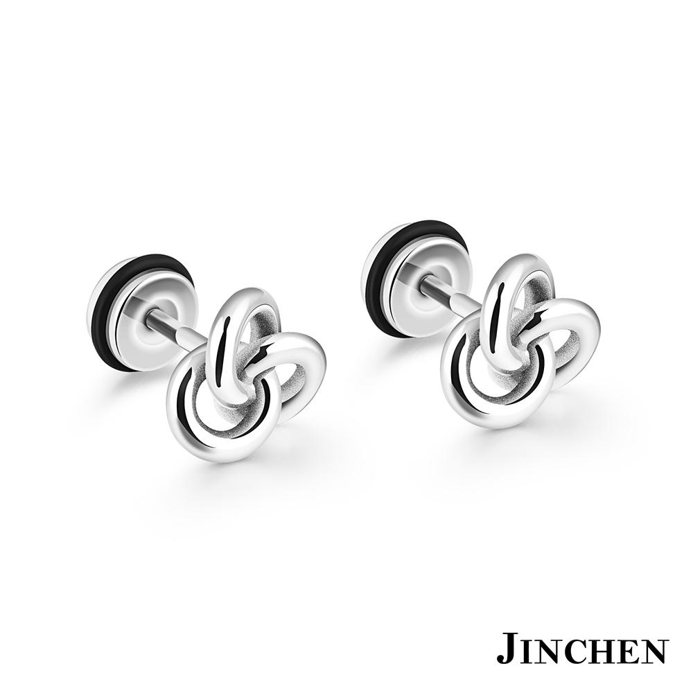 JINCHEN 白鋼中性打結耳環 單個 @ Y!購物