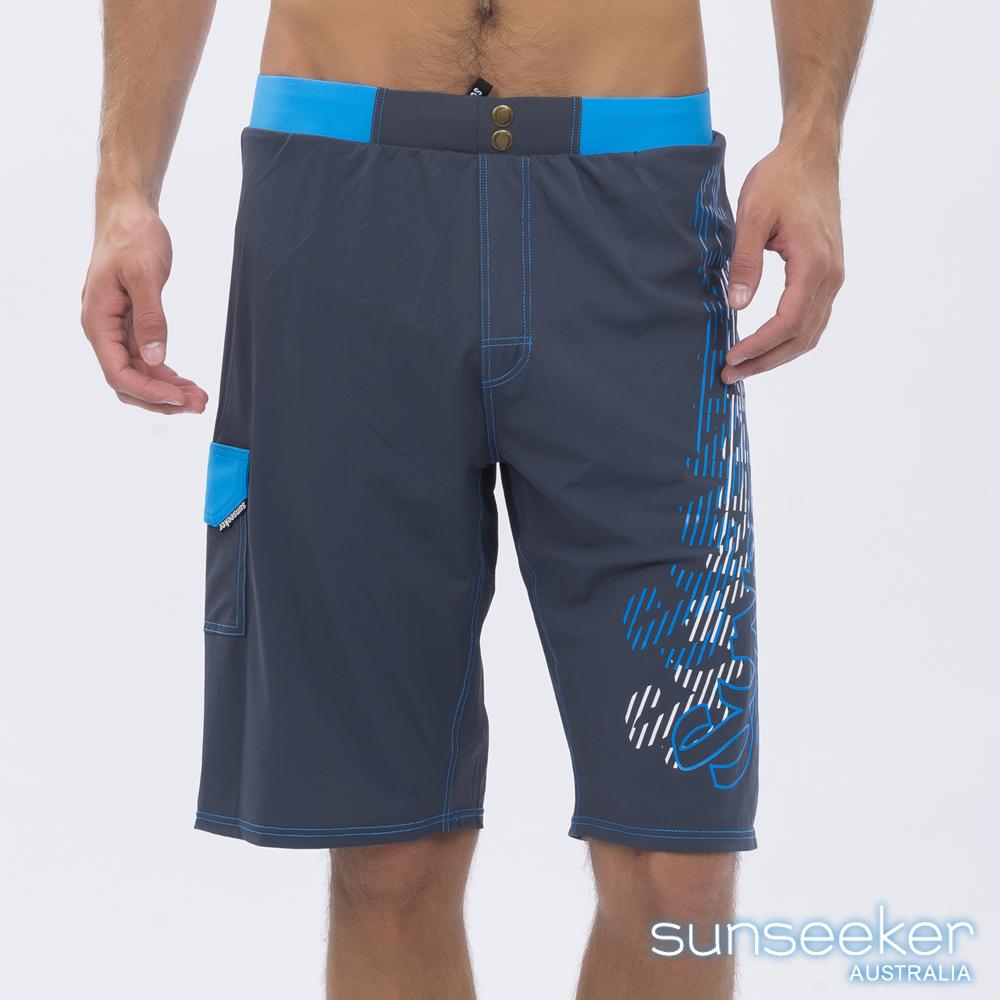 澳洲Sunseeker泳裝時尚男士快乾衝浪泳褲-鐵灰