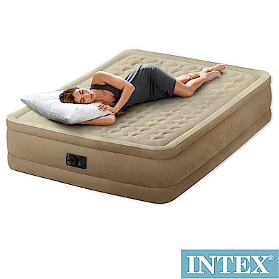 INTEX超厚絨豪華雙人加大充氣床寬152cm(內建幫浦)fiber-tech(64457
