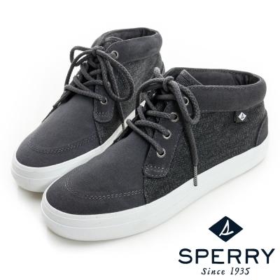 SPERRY-街頭風尚中筒帆布鞋-女-灰