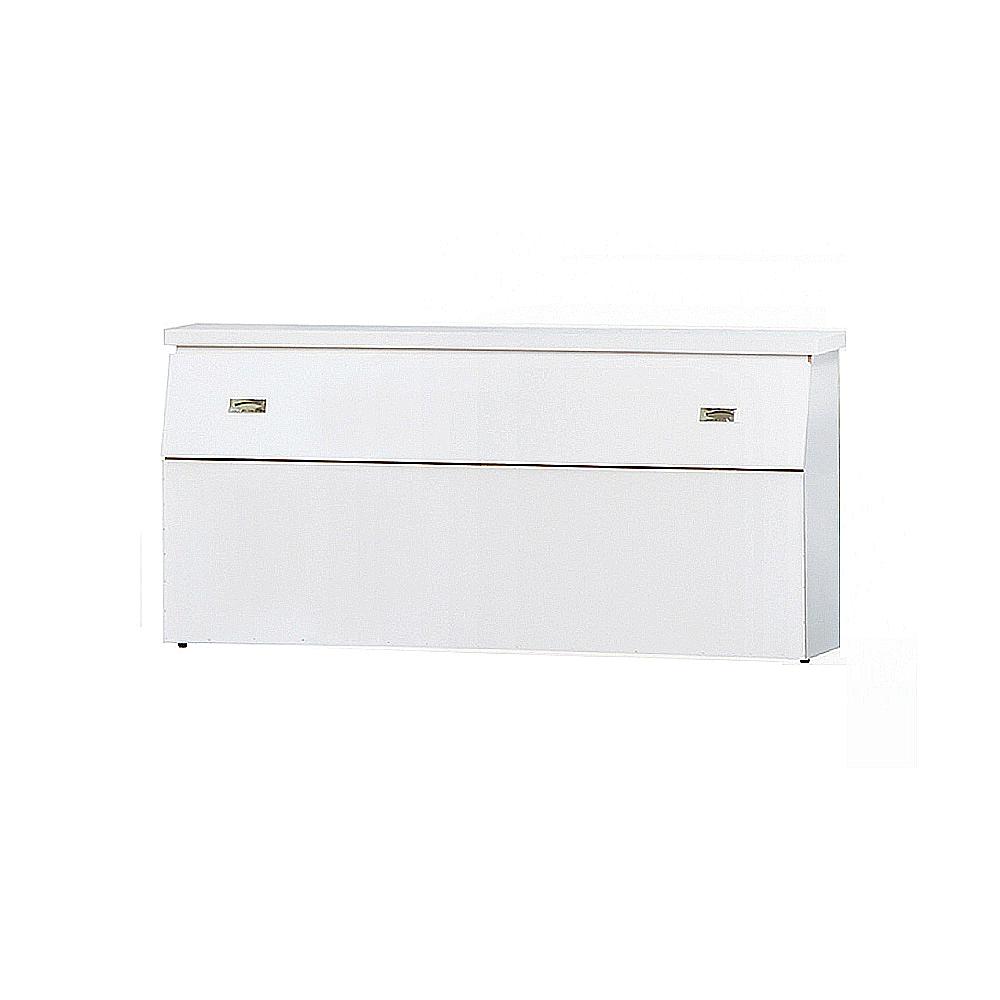 AS-亞瑟5尺白色床頭箱-155x29.7x75cm