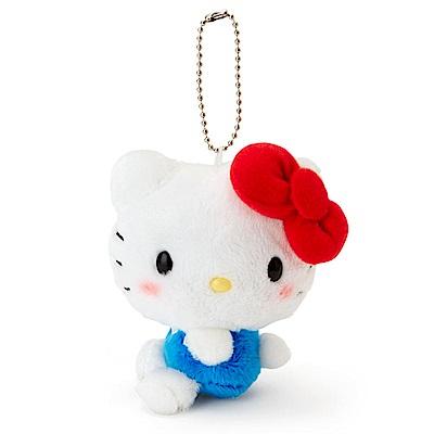 Sanrio HELLO KITTY害羞臉紅紅側坐玩偶吊鍊