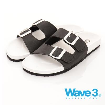 WAVE3男款】釘電銀扣水手鞋-黑(17101537)