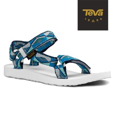 TEVA 美國-女 Original Universal 緹花織帶涼鞋 (藍)
