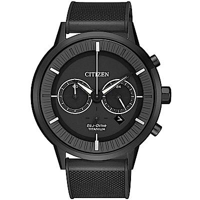 CITIZEN星辰關鍵時機Eco-Drive鈦金屬腕錶(CA4405-17H)