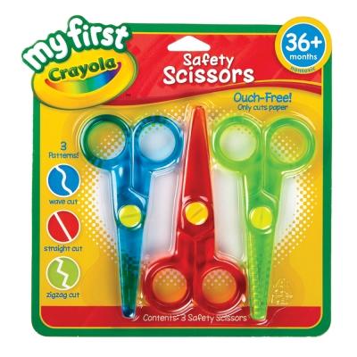 美國crayola 幼兒安全剪刀3件組(3Y+)