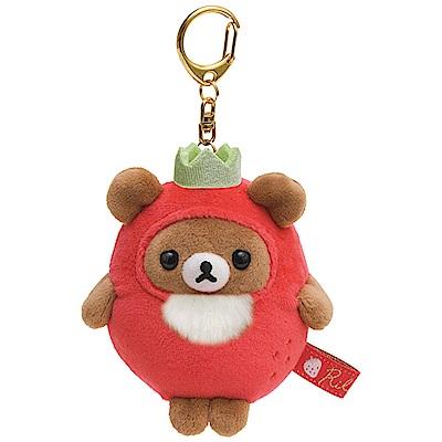 拉拉熊草苺派對系列QQ公仔吊飾。蜂蜜小熊San-X
