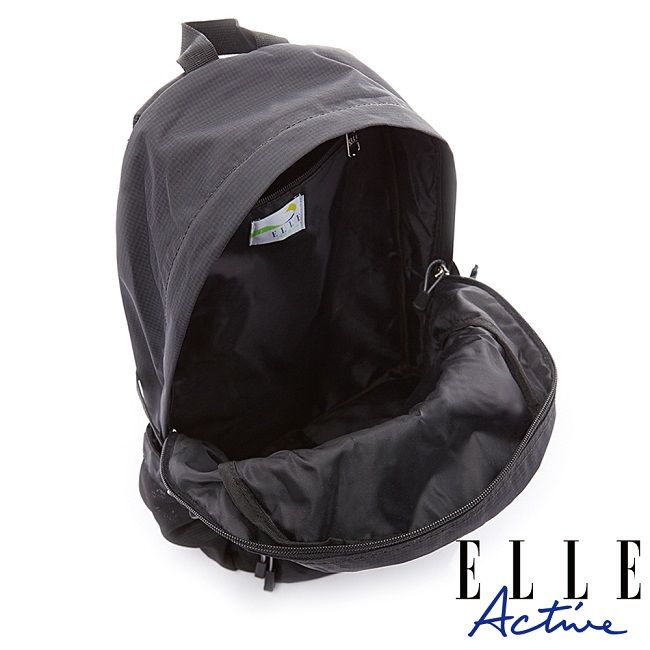 【ELLE Active】Fish Net 漁網系列-後背包-大-黑色