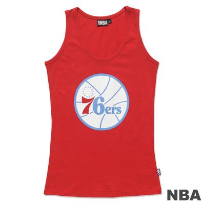 NBA-費城76人隊圓領合身背心-紅-女