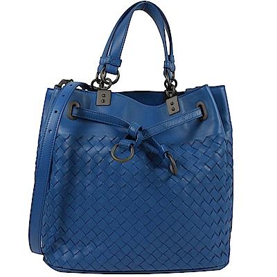 BOTTEGA VENETA編織手提斜背兩用水桶包(藍)