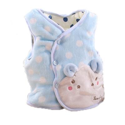 小河馬嬰幼兒鋪棉絲絨保暖外套 藍  k60053