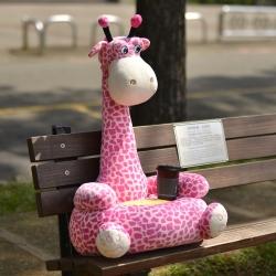 LooCa 長頸鹿造型厚乳膠椅/和室椅(2入)