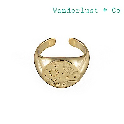 Wanderlust+Co 澳洲時尚品牌 INES宇宙星系戒指 金色
