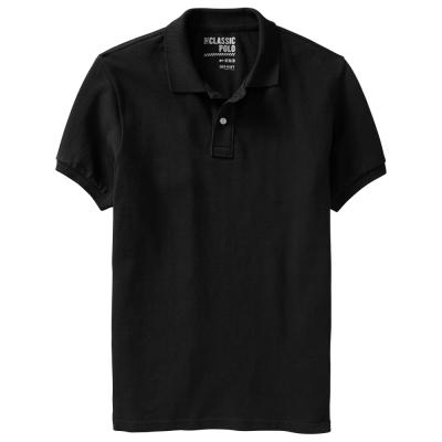 Old Navy 男裝 純色Pima棉POLO短衫(黑)