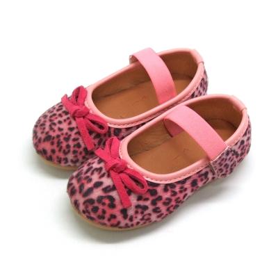 天使童鞋-D377 秋冬絕美豹紋親子鞋(小童)-粉紅紋