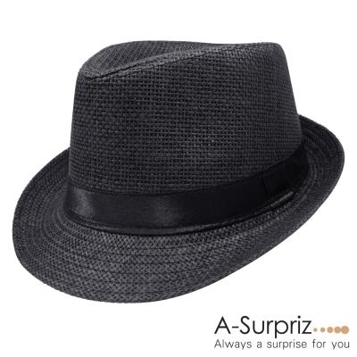 A-Surpriz 簡約個性風尚紳士帽(黑)