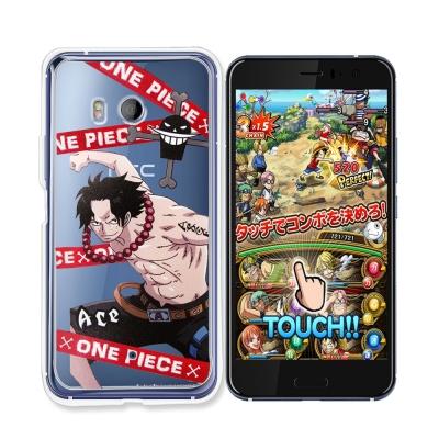 東映授權正版 航海王 HTC U11 透明軟式手機殼(封鎖艾斯)