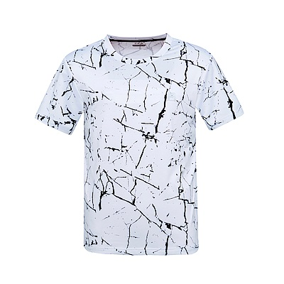 FILA 男抗UV吸濕排汗T恤-白 1TES-1303-WT