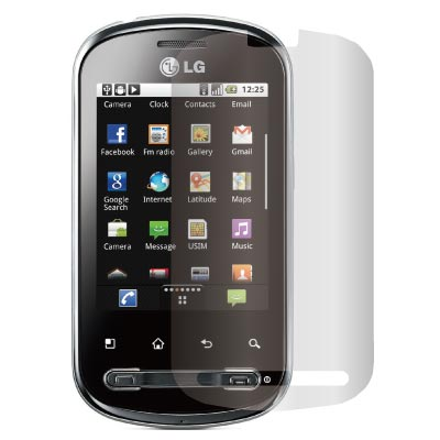 ZIYA LG Optimus Me P350  抗刮亮面螢幕保護貼2入