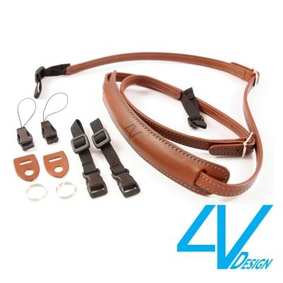 4V LUSSO-SLIM系列相機背帶SP01B-VV2330-棕/青色(S)