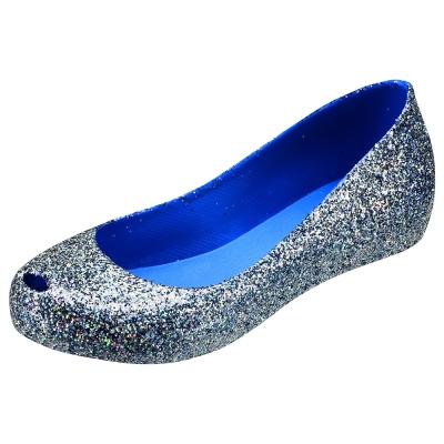 Melissa 絕色星燦魚口鞋-晶藍