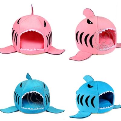 DYY》超萌深海大白鯊保暖寵物睡窩-S號42*42*37cm