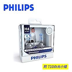 PHILIPS 飛利浦車燈 璀璨之光WhiteVision3700K H4/H7/9006