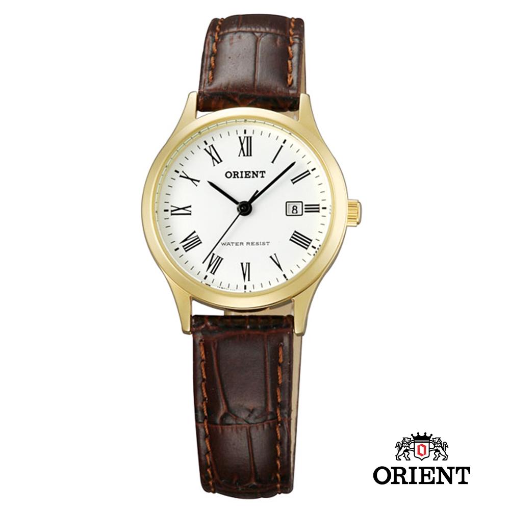 ORIENT 東方錶 Traditional Style 復古石英錶-白x金色框/28mm