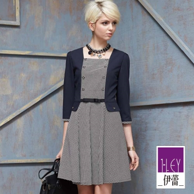 ILEY伊蕾-含羊毛假兩件小外套洋裝